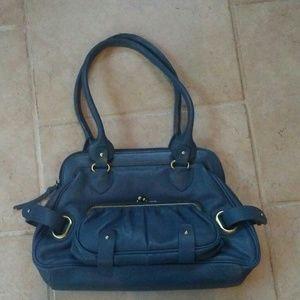 Michael Rome blue leather purse